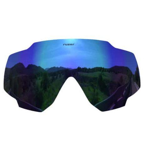 blue polarised sunglasses lens