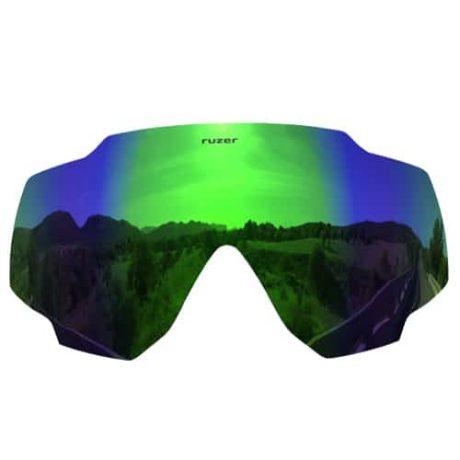green polarised sunglasses lens