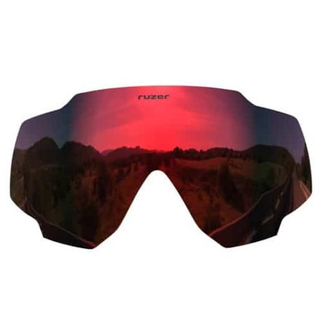 red polarised cycling sunglasses lens